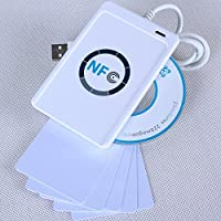 Contactless USB NFC ACR122U RFID Smart Reader Writer + SDK + 5*Mifare IC Cards
