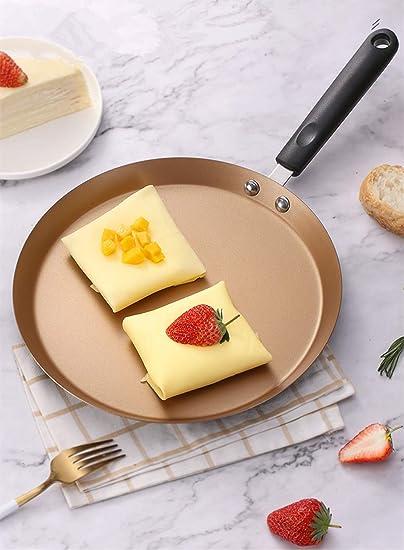 Mokpi Nonstick Skillet Crepe Pan Omelet Pan Pancake Fry Pan Kitchen or Camping Cookware 6-Inch, Gold