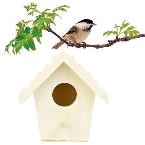 HXLF Jaula de pájaros de Madera Pequeño jardín al Aire Libre ...
