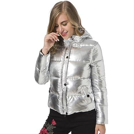 CHENGYANG Damen Daunenjacke Kapuzen Packbar Ultra Leicht Gewicht Daunenmantel mit Taschen