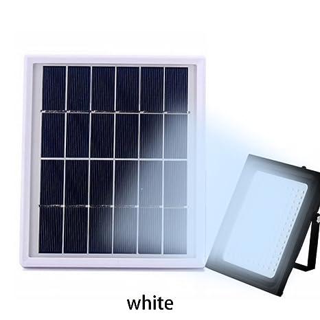 150 LEDs Luz Solar Jardín con Sensor de Movimiento LED Luz de Inundación Solar Exterior Lámpara