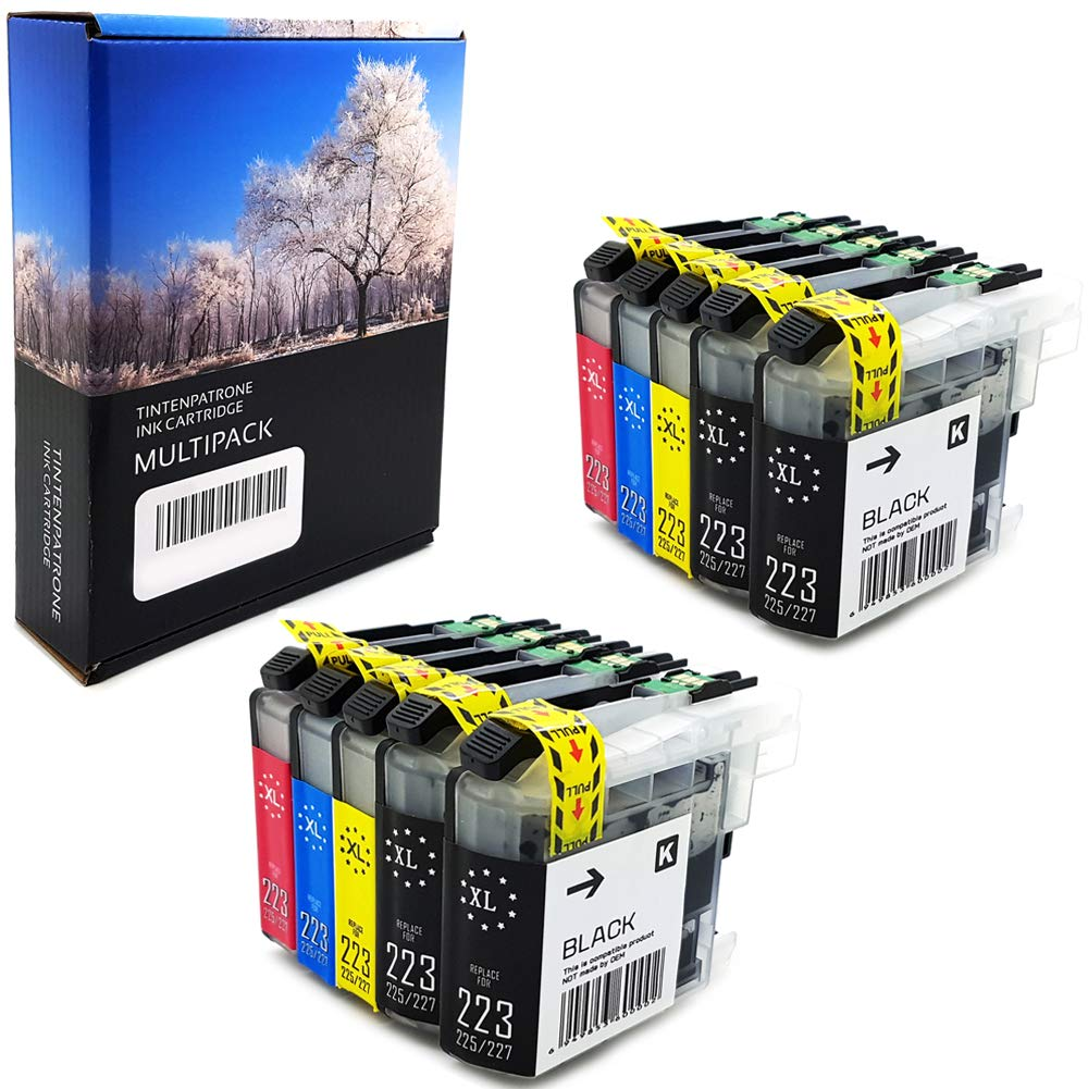 10 XL Cartuchos de Tinta con Chip para Brother lc223 lc225 lc221 XL Cartuchos de Tinta Compatible para Brother DCP-J4120DW dcp-j562dw MFC-J5320DW ...