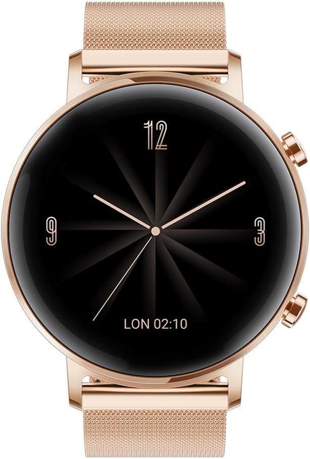 Huawei Watch GT 2 Elegant - Smartwatch con Caja de 42 mm, Hasta 1 Semana de Batería, Pantalla táctil AMOLED 1.2