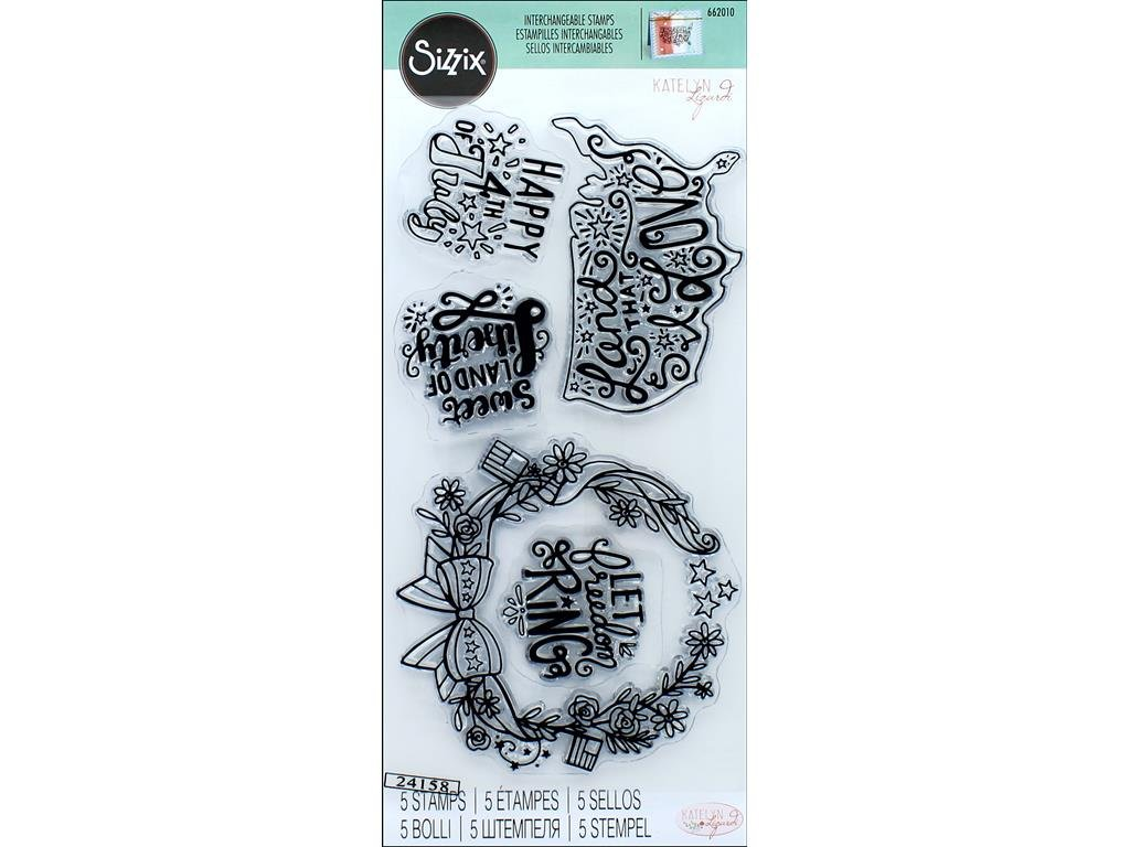 Sizzix Interchangeable Clear Stamps 662010 Land That I Love