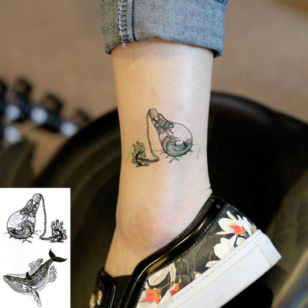 ljmljm 5 Unids Impermeable Etiqueta Engomada del Tatuaje Luna ...