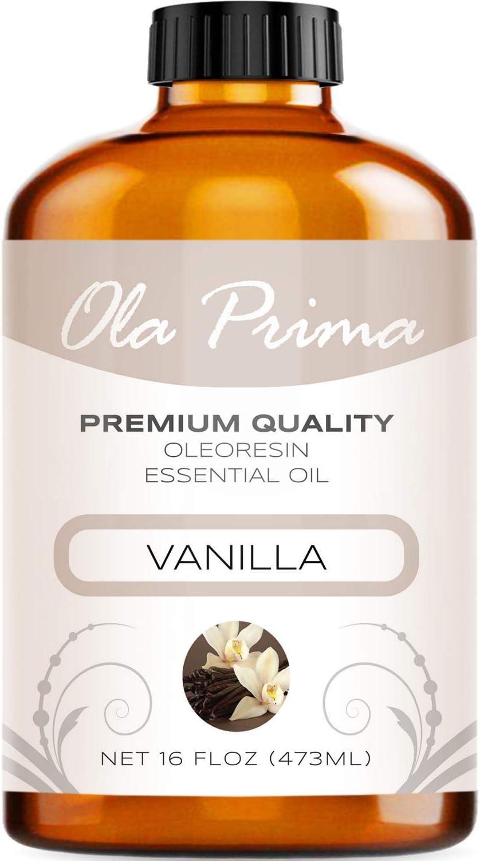 Ola Prima 16oz - Premium Quality Vanilla Essential Oil (16 Ounce Bottle) Therapeutic Grade Vanilla Oil