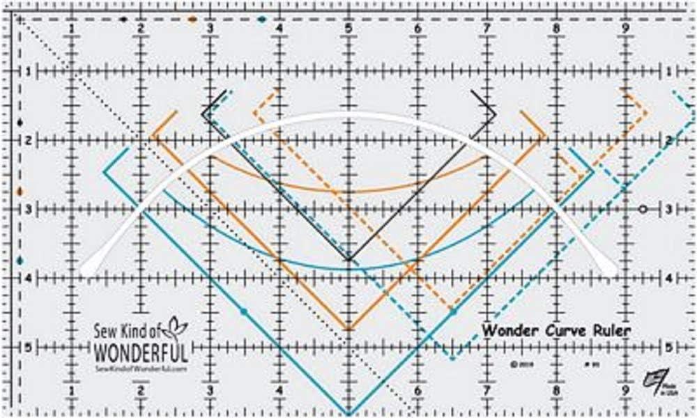 Sew Kind of Wonderful SKW93 Wonder Curve Ruler