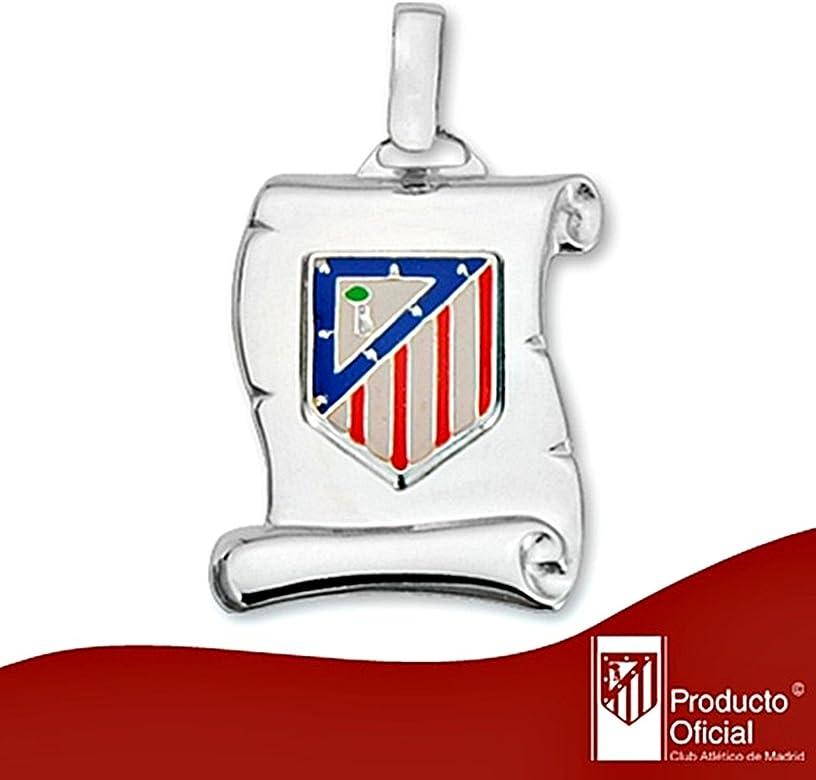 Colgante pergamino escudo Atlético de Madrid Plata ley 925m [8444]: Amazon.es: Joyería