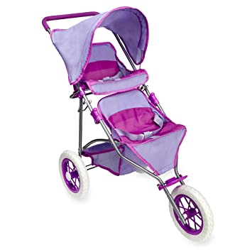 Amazon Com You Me Twin Doll Jogger Stroller By Toysrus Toys Games