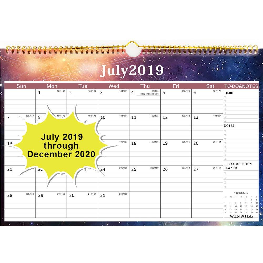 July Calendar For 2020.Amazon Com Wall Calendar 2019 2020 Academic Year Monthly Wall
