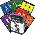 Resistance Band Exercise Cards by Stack 52. Exercise Band Workout Playing Card Game. Video Instructions Included. Home Fitness Training Program for Elastic Rubber Tubes and Stretch Band Sets.