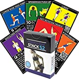 Stack 52 Resistance Band Exercise Cards. Exercise Band Workout Playing Card Game. Video Instructions Included. Home Fitness Training Program Elastic Rubber Tubes Stretch Band Sets.