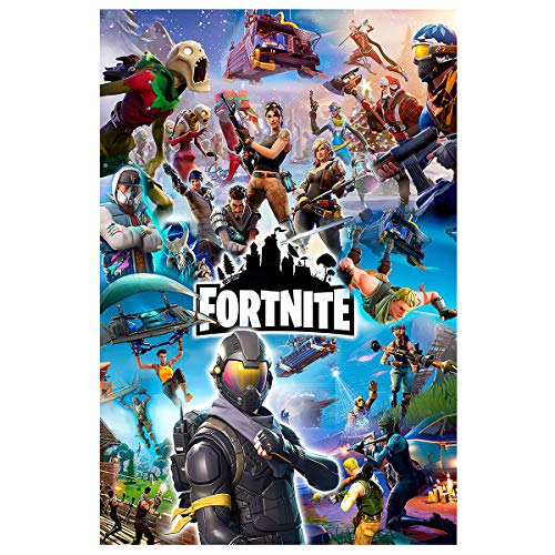 """Fort_nite Poster Battle Royale Video Game Posters Wall Art Gaming Painting for Boys Room Decoration ,16"""" x 24"""",Unframed Version (16"""" x 24"""") (004)"""
