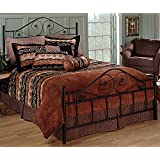 Hillsdale Furniture 1403BKR Harrison Bed Set with Rails, King, Texture Black