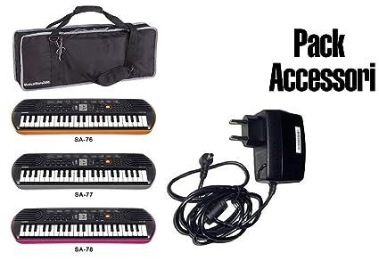 Accesorios Pack fuente/Funda Keybag/Minibag Casio para teclados y piano SA76/77
