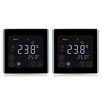 Fabulous 2 Stück Digital Thermostat Heizung Raumthermostat Wandthermostat OF88