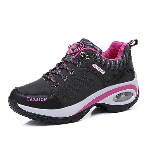 T-Gold Air Zapatillas Deportivas de Mujer Aire Libre Correr Running Gimnasio Zapatos Talón 6