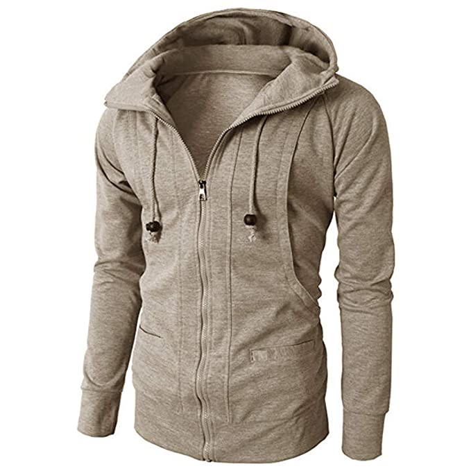 Amazon.com: Clearance! Teresamoon Fashion Mens Autumn Winter Long Sleeve Sport Zipper Hoodie Pullover Blouse Tops