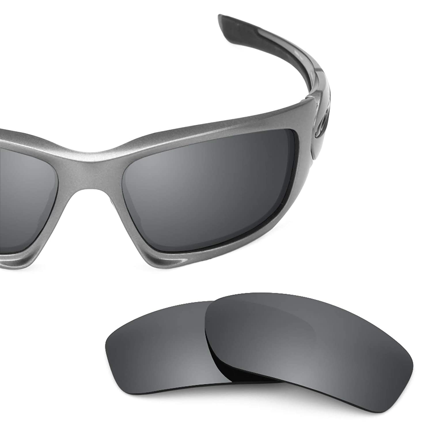 d8caba6688be7 Amazon.com  Revant Polarized Replacement Lenses for Oakley Scalpel (Asian  Fit) Elite Black Chrome MirrorShield  Sports   Outdoors