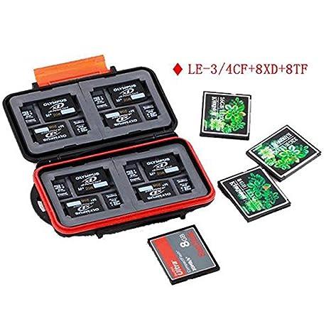 kalaixing® Funda para tarjeta de memoria impermeable – – Estuche para tarjetas de memoria (SD, SDHC, SDXC, Compact Flash CF tarjetas -- le-3