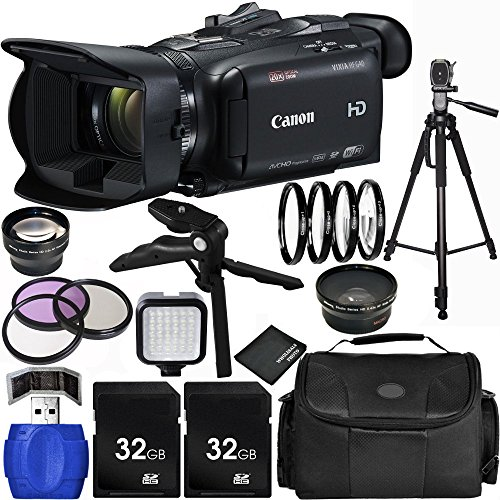 Canon VIXIA HF G40 Full HD Camcorder Bundle with Carrying Case and Accessory Kit (18 Items) by Canon