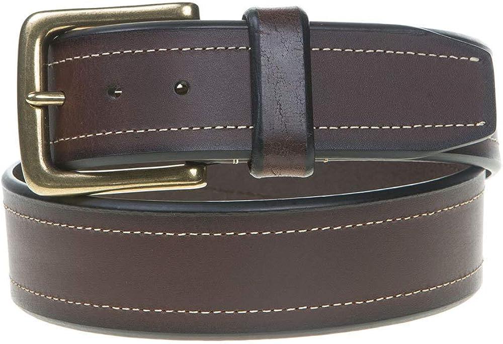 Berne Workwear Mens Contrast Leather Belt