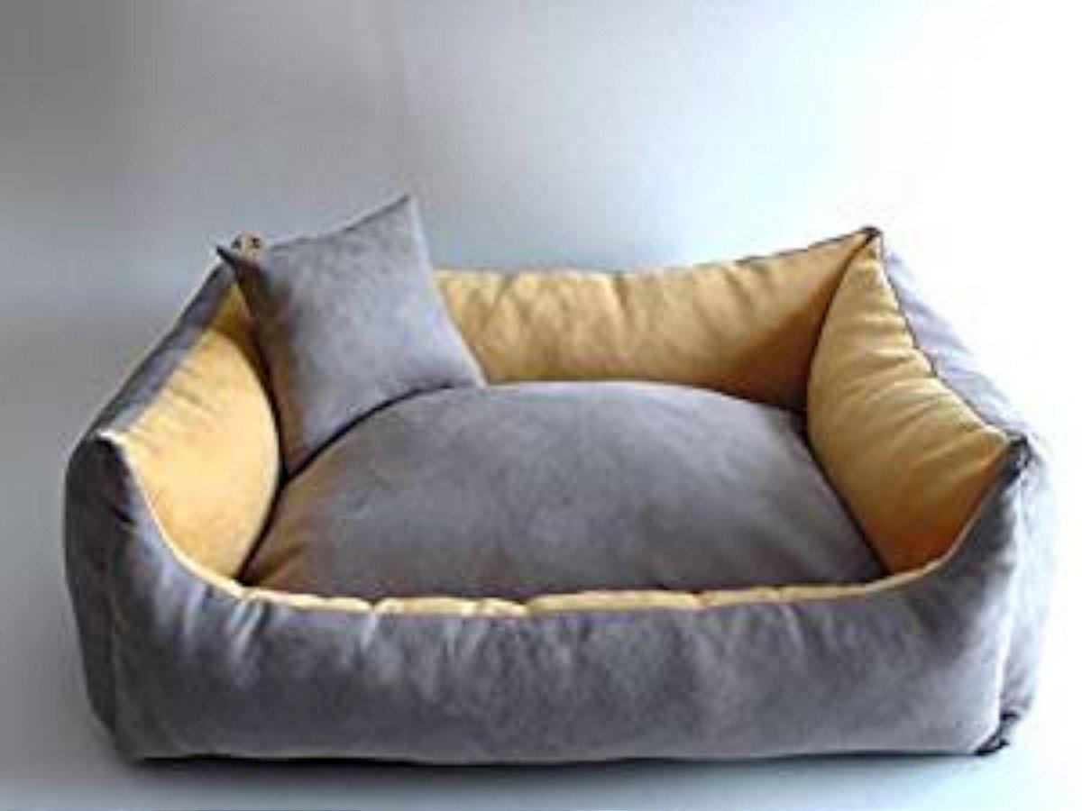 Cama para perros + Perros Cojín perro Sofá para perros Animales cama, distintos tamaños y colores (2 - 70 cm x 55 cm x 25 cm, 11 - Gris - Beige): Amazon.es: ...