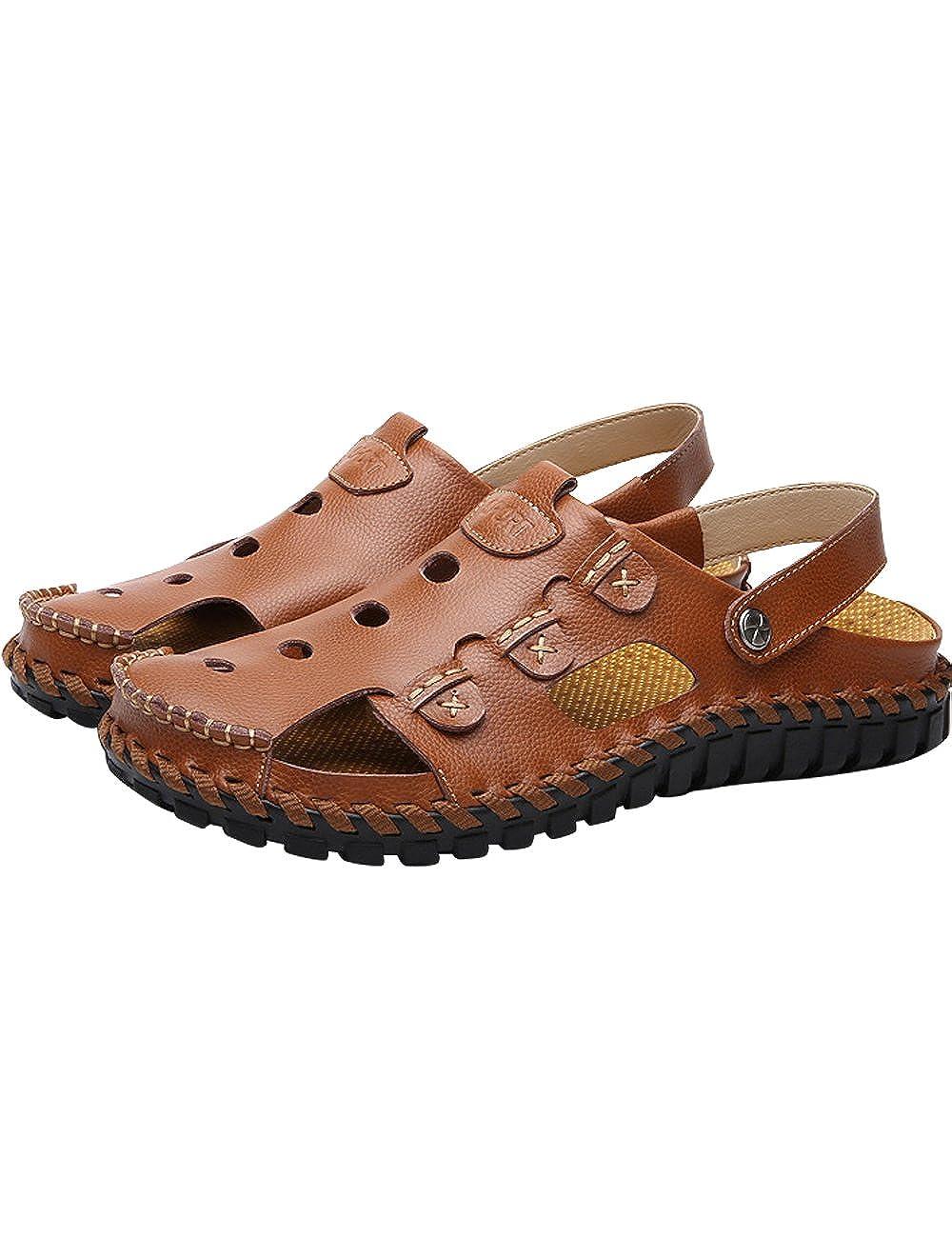 Sandalen Herrenchwear Herren Leder Sport Sandalen  Outdoor Wasserschuhe Schuhe Rose-braun-tx9918 a39632