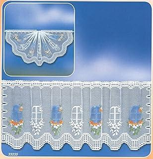 inkl BxH Scheibengardine Butterfly 160 x 50 cm Vitragenstange