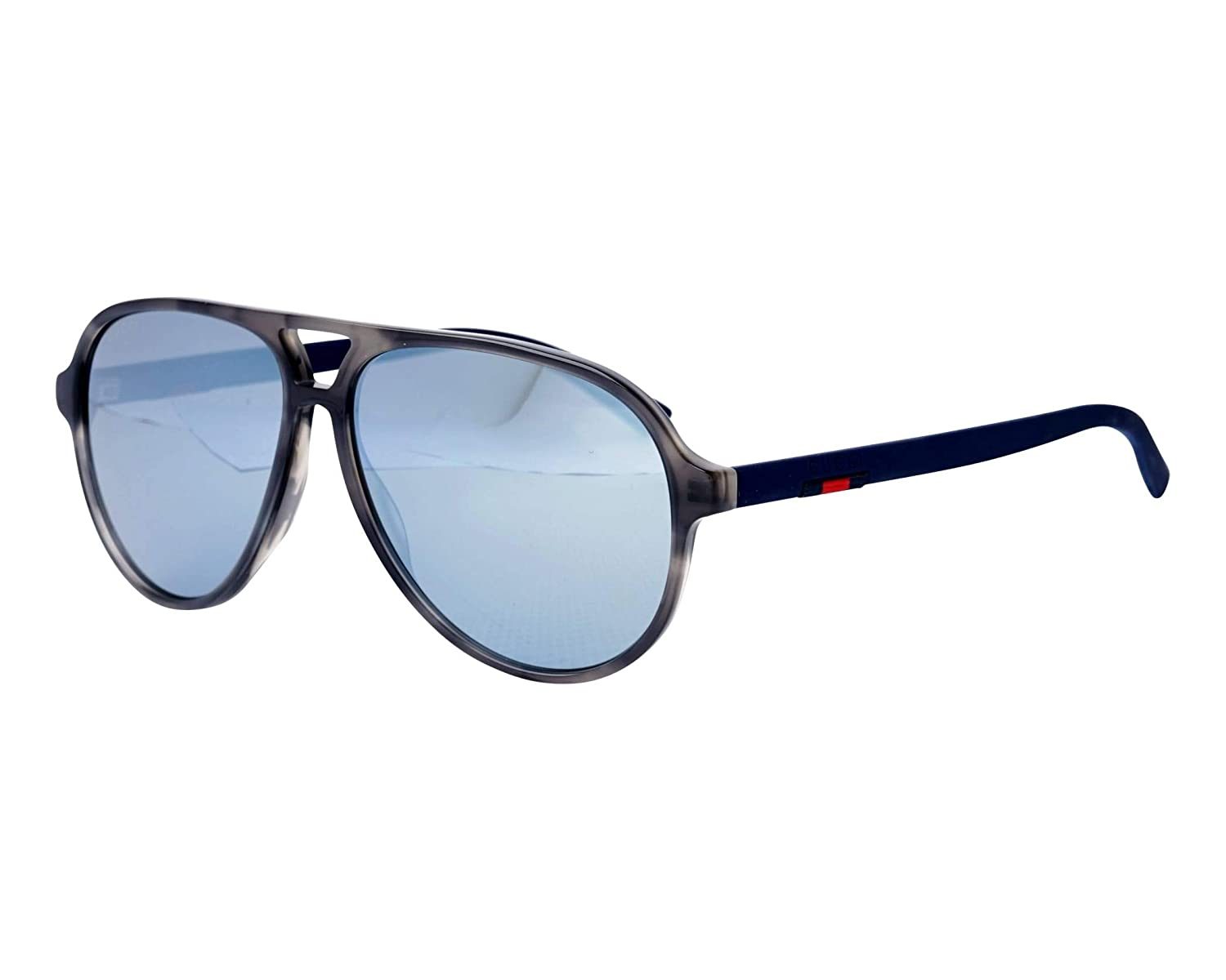 Amazon.com: GG0423S 0423 Grey Havana Blue Mirrored Stripe ...