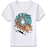 JJSFJH Kids Clothes T Shirt My Neighbor Totoro Cat Bus Anime Forest Spirit Boys and Girls Toddler Shirts (Color…