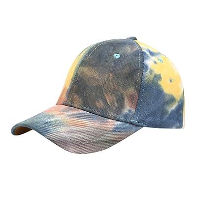 Sttech1 Womens Tie Dye Printed Baseball Cap Peaked Cap Sun Hat Sun Beach Hat Gray: Clothing
