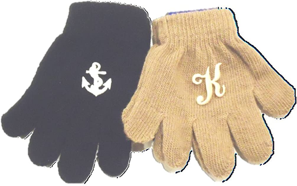 4 Pairs Magic Gloves for Infant Boys and Toddlers Ages 1-4 Years One Monogram