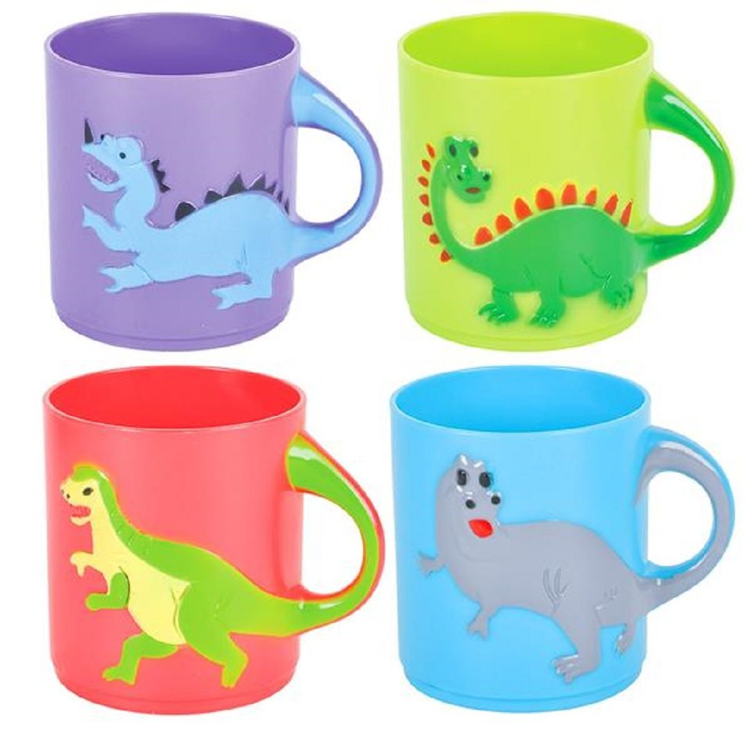 Dinosaurs Mugs Assorted colors and designs (1 dz) by Rhode Island Novelty