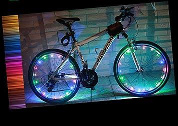 Colour Changing LED Bike Bicycle Wheel Light TRIXES Wheel Spoke Lights