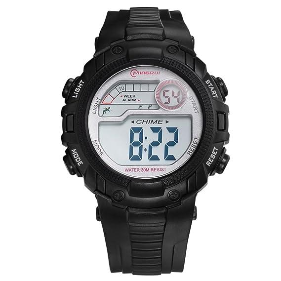 Relojes para niños/Chicas deporte digital resistente al agua reloj digital/ versátil con reloj digital alarma-G: Amazon.es: Relojes