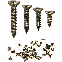 FUXXER® - 100x antieke houtschroeven, messing bronzen antieke look, kruiskop, kruisschroeven, verzonken kop…