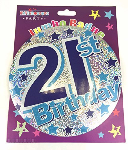 Amazon 21st Birthday Badge Age 21 Birthday Badge Jumbo Blue