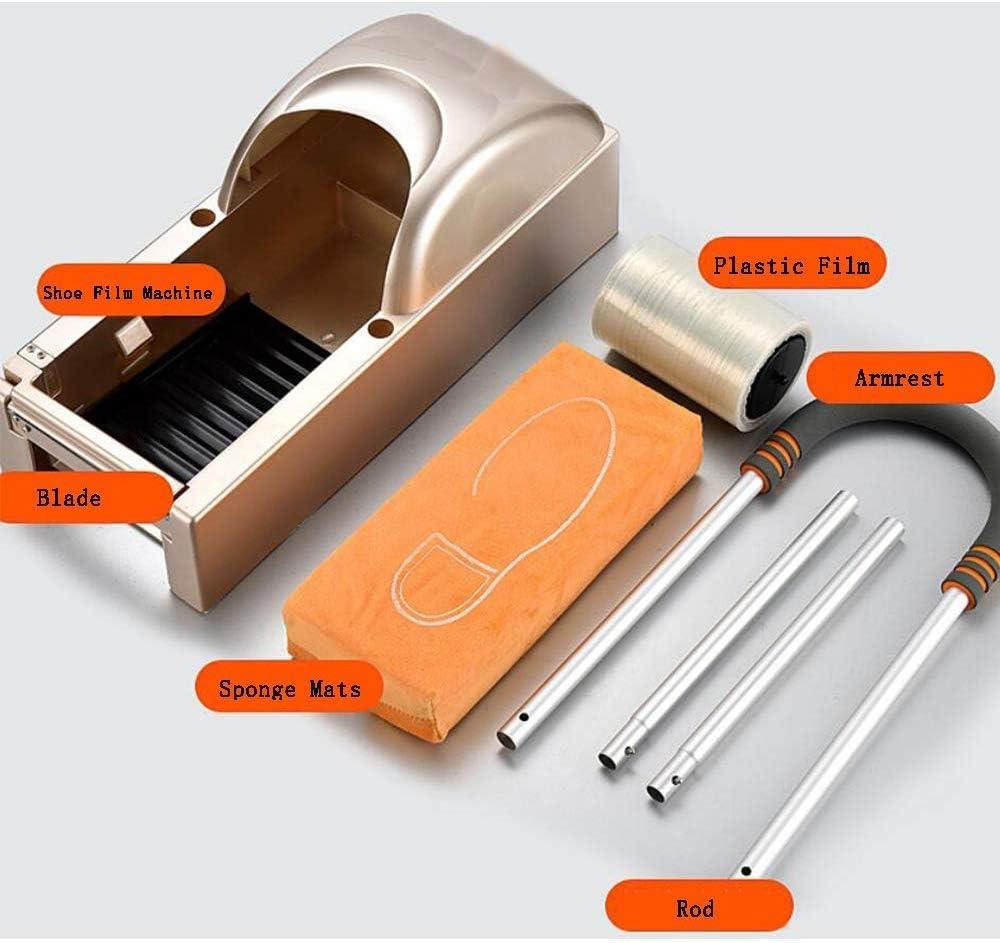靴フィルムマシン自動ディスペンサーアンチスリップ防水使い捨て成形ホームオフィス単色シンプルな保護靴カバーマシン(アームレストを含む)(20 x 8 x 30インチ)、ホワイト
