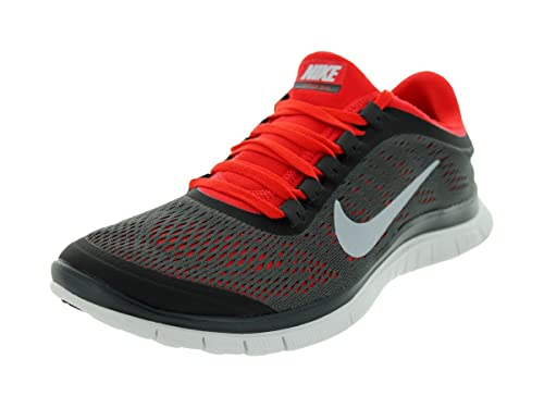 Huerta Injusto Arbitraje  Buy Nike FREE 3.0 V5 - RUNNING SNEAKERS SHOES - 580393 (13, DARK  CHARCOAL/CHILLING RED-SUMMIT WHITE) at Amazon.in