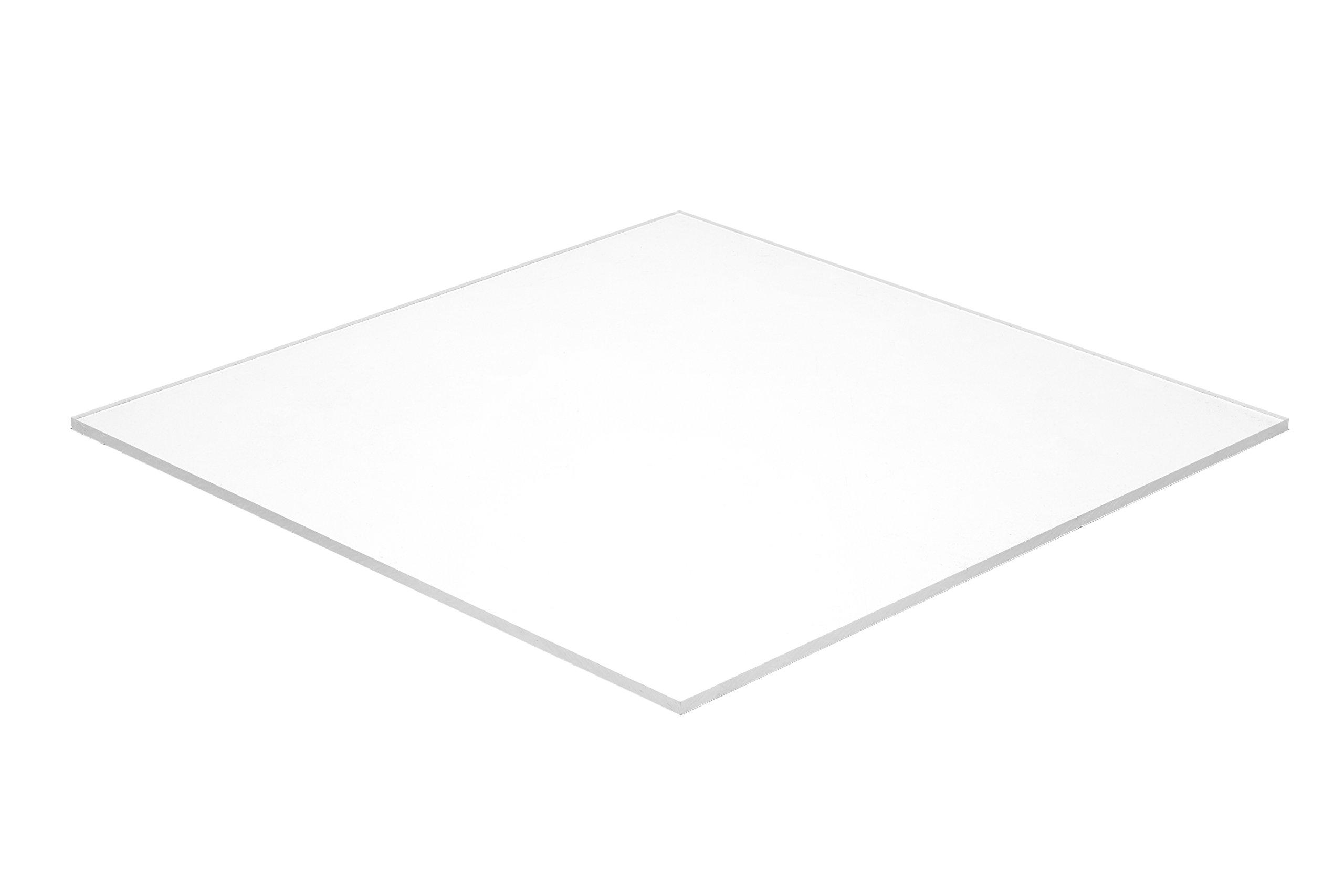 Falken Design WT2447-1-8/2436 Acrylic White Sheet, Translucent 55%, 24'' x 36'', 1/8'' Thick by Falken Design Corporation