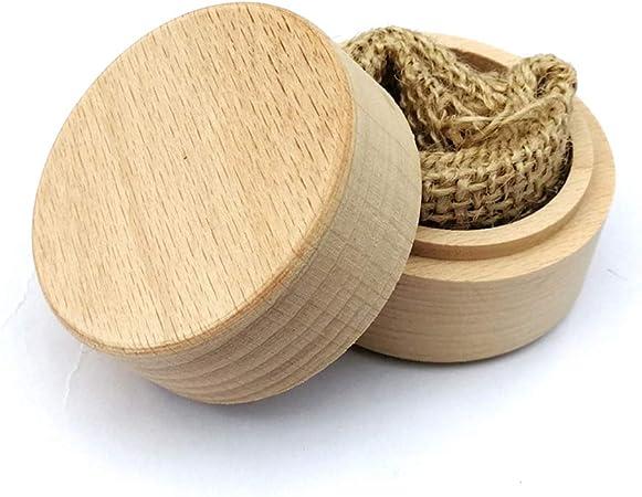 Caja para anillos de madera de haya rústica personalizada para boda: Amazon.es: Hogar