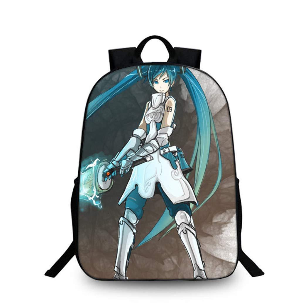 Cosstars Hatsune Miku Imagen Mochila de la Escuela Estudiante Bolsas Escolar Bolsa de Ocio Viaje Backpack //1
