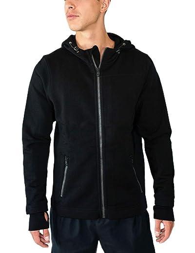 Woolx Mens Grizzly Full Zip Merino Wool Hooded Sweatshirt