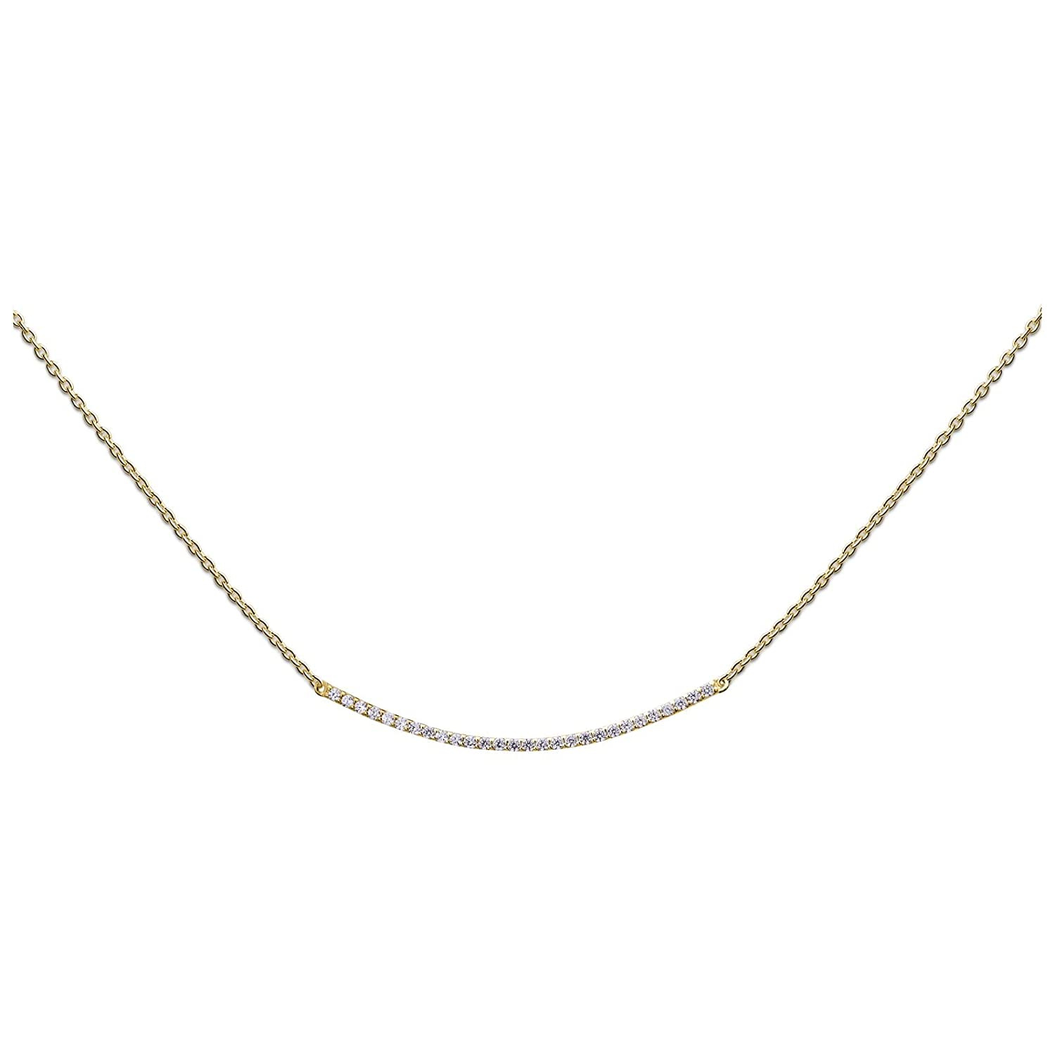 Kette Curved Bar N243CBZ15G Heart to get 26423-00