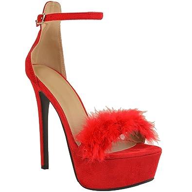 3b3fe495de485 Fashion Thirsty Damen High Heels mit Plateausohle & Pfennigabsatz