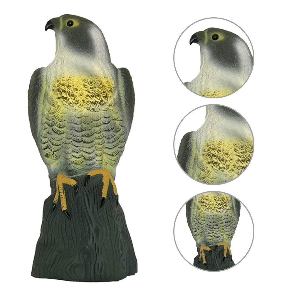 Realistic Falcon Decoy Bird Repeller Garden Decoration Bird Deterrent Garden Hunting Bait PE Plastic Eagle Decoration ruist-eu