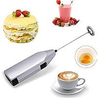 Espumador con Leche Eléctrico, Fotgear Mini Máquina de Espuma Manual, Batidora de Café con Leche, Batidora de Espuma…
