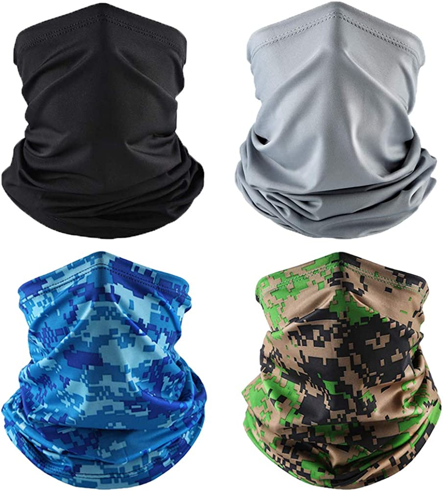 BUYITNOW Cooling Neck Gaiter Face Mask for Men Women Outdoor - Camouflage Bandana Dust Wind Balaclava Headwear
