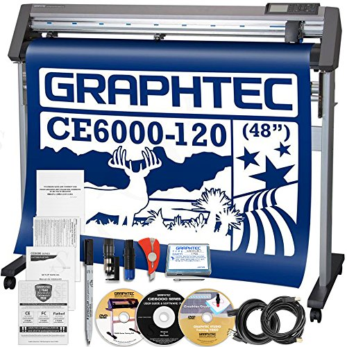 Graphtec PLUS CE6000-120 48 Inch Professional Vinyl Cutter with Bonus $2100 in Software and 2 Year Warranty by Graphtec